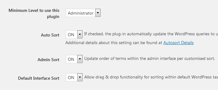 Advanced Taxonomy Terms Order Admin Interface