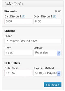 WooCommerce Admin-Order Totals Widget